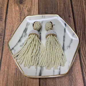 Bauble Bar Pearl Tassel Earrings